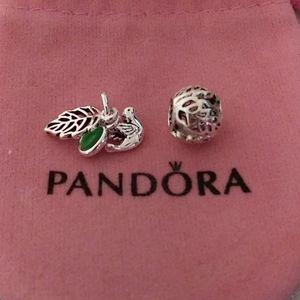 Pandora Forest Trinity dangle W/ Bonus Charm